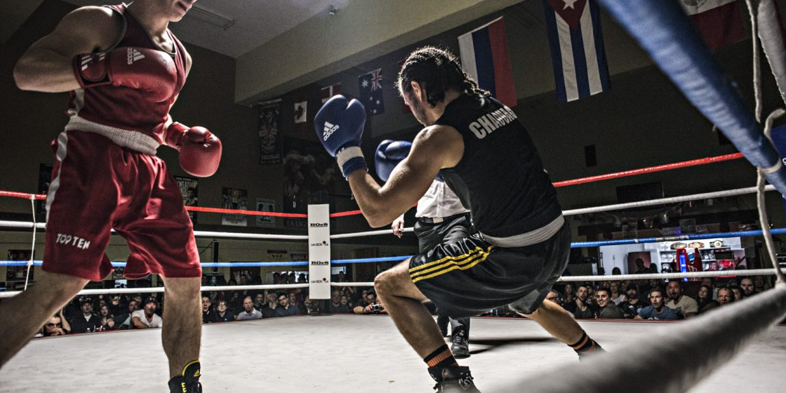 Combat de boxe à Québec - photo Red Méthot